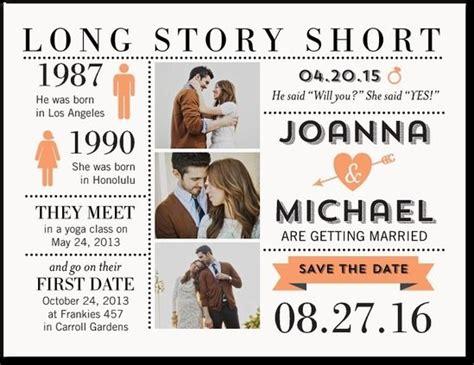 Long Story Short Save the Date Postcard Wedding saving