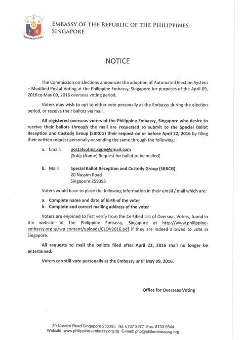 elections  important notice embassy