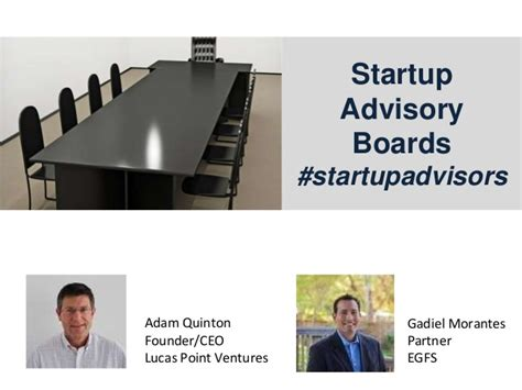 startup advisory boards