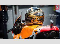December 2014 Desktop Calendar The 3+1 Marc Marquez Helmet