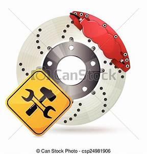 Frein De Service : clipart vecteur de disque frein car frein disque ~ Dallasstarsshop.com Idées de Décoration
