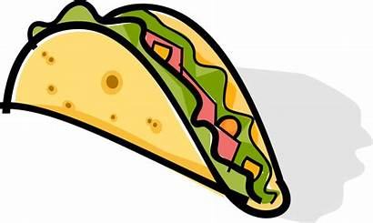 Taco Transparent Tortilla Clipart Mexican Chalupa Icon