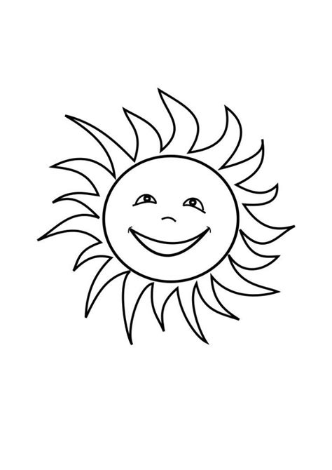 printable sun coloring pages  kids