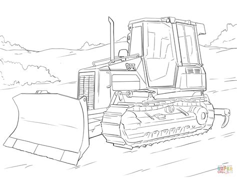 Supercoloring.com is a super fun for all ages: Caterpillar Bulldozer coloring page | Free Printable ...