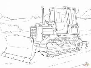 Caterpillar Bulldozer coloring page | Free Printable ...
