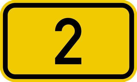 Bundesstraße 2 Number.svg