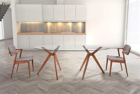 oval glass dining table  modern dining