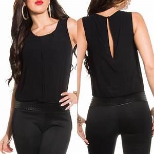 Combinaison Pantalon Femme Habillée : combinaison femme noire chic ~ Carolinahurricanesstore.com Idées de Décoration