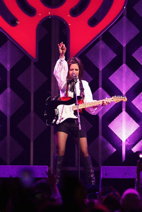Camila Cabello Performs Onstage During Kiss Jingle