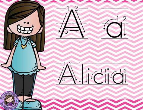 abecedario nombres propios 2 imagenes educativas