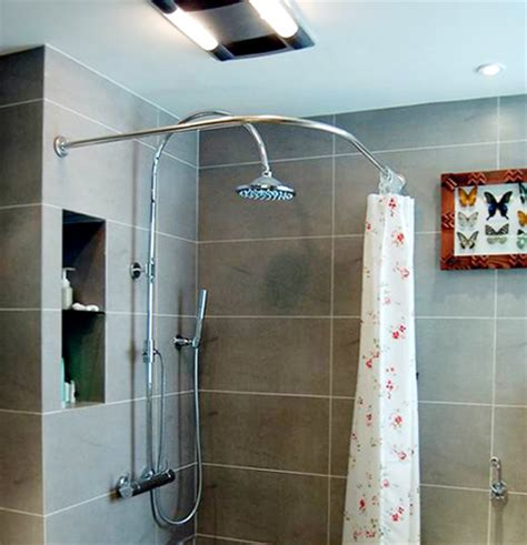 custom stainless steel curved shower curtain rod