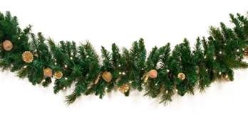 decorative garland harvest gold deluxe prelit christmas garland clear lights