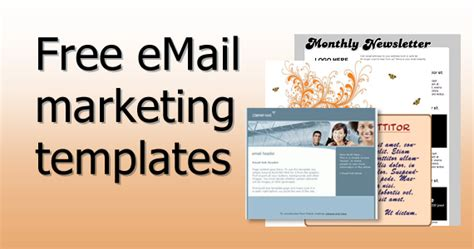 Free Email Marketing Templates free email marketing templates email marketing