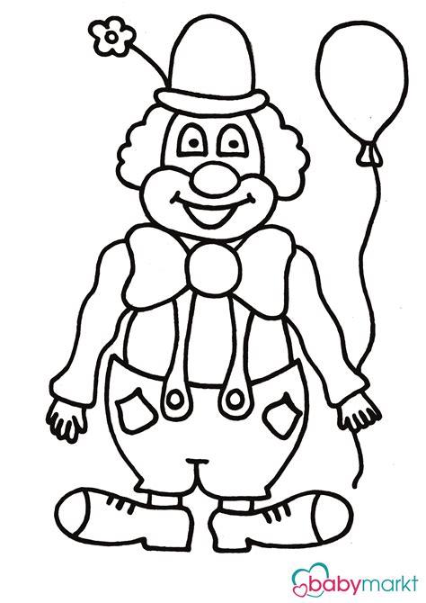Clown Zum Ausmalen  Babymarktde Ratgeber