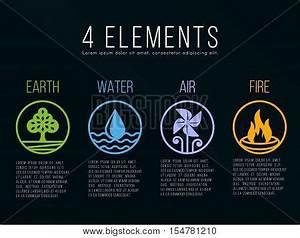 Nature 4 Elements Circle Border Vector & Photo | Bigstock