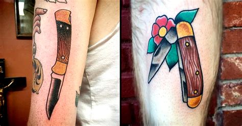 traditional buck knife tattoos tattoodo