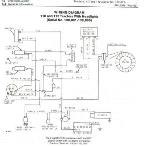 deere d110 mower wiring diagram wiring diagram and fuse box diagram