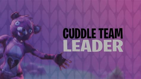 New Skin Cuddle Team Leader (fortnite Battle Royale