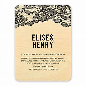 vintage lace real wood invitation invitations by dawn With wedding invitations with real lace