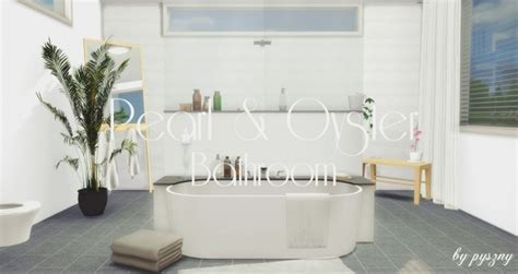 Peral & Oyster Bathroom at Pyszny Design » Sims 4 Updates