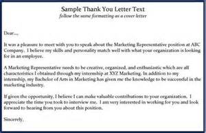 interview thank you letters