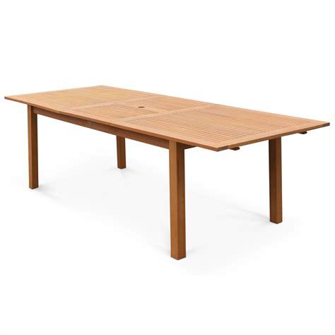 table de jardin extensible 180 240cm en bois d eucalyptus fsc