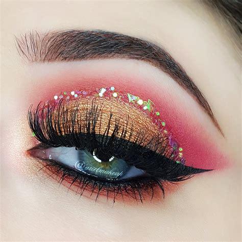 collection    glitter makeup tutorials  ideas