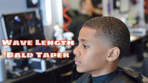 bald taper wave length haircut hair fiber enhancement