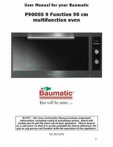Baumatic Oven Timer Instructions