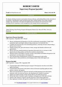 Program Specialist Resume Samples