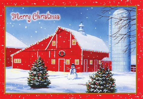 words for christmas barn seen barn and silo on farm box of 18 cards by