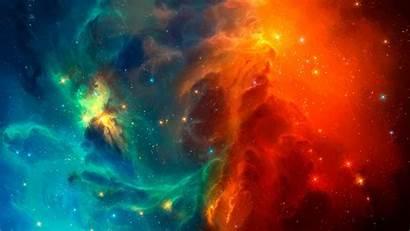 Background Nebula Backgrounds Cool Orange Profile Wallpapers