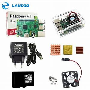 Bpi3 Kit Raspberry Pi 3 Abs Case With Fan  16gb Sd Card 3pcs Heat Sink 5v 2 5a Power Adapter
