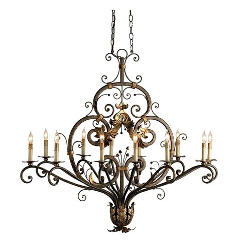 Oval Chandelier by Intricate Gold Leaf True Oval Chandelier Kathy Kuo Home