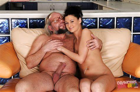True Sweet And Her Grandpa Fascinating Baby Blonde With Young Nipple Does Her Ass Stretched