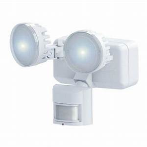 heath zenith 180 degree outdoor white solar led motion With outdoor security lighting at home depot