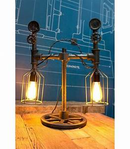 Lampe à Poser Industriel : lampe poser tube compteur vintage industriel 2 me mod le ~ Teatrodelosmanantiales.com Idées de Décoration