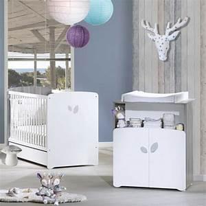 chambre bebe duo leaf lit 60x120cm commode 15 sur allobebe With affiche chambre bébé avec fleuriste Á domicile