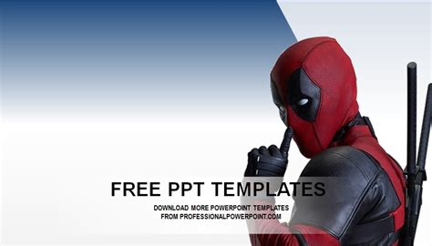 deadpool powerpoint theme professional powerpoint