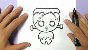 Dessin Facile Halloween : comment dessiner frankenstein kawaii halloween tuto ~ Melissatoandfro.com Idées de Décoration