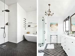 carrelage au sol salle de bain - le carrelage caille f minin et r tro joli place