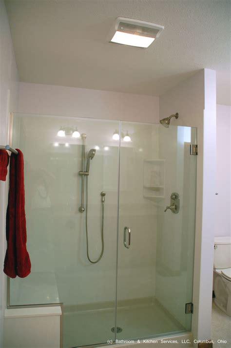 large cultured marble shower surround  built