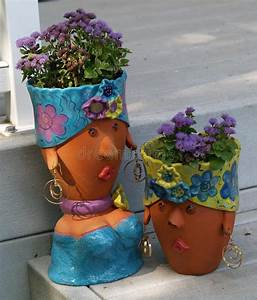 Planter, Pot, Sculptures, Stock, Photo, Image, Of, Flowerpot