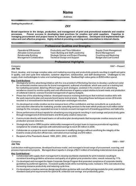 project management executive resume