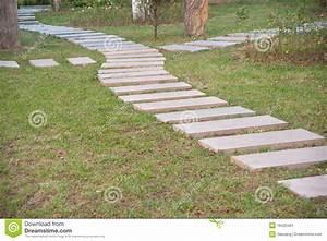 chemin en pierre dans le jardin formel image stock image With chemin de jardin en pierre
