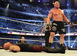Looking Back - Brock Lesnar Vs The Undertaker At ...