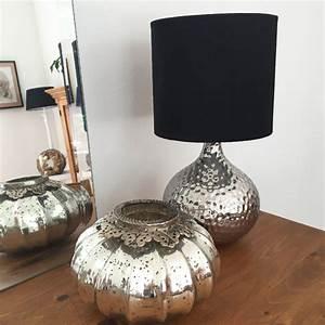 Tischleuchte Mit Schirm : tischlampe kugel silber mit schirm tischleuchte shabby vintage nostalgie landhau ebay ~ Indierocktalk.com Haus und Dekorationen