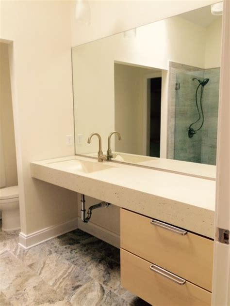 crafted concrete trough bathroom sink by crump and