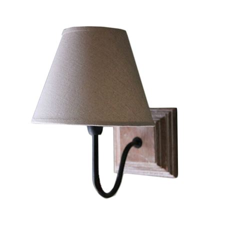 country wood canopy and flax shade wall sconce 11618