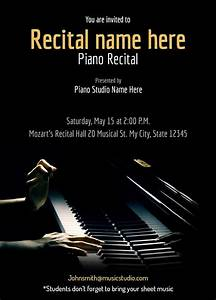 Create Invites Online Free Printable Piano Recital Maestro Free Recital Invitation Templates
